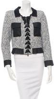 Oscar de la Renta Denim-Accented Tweed Jacket