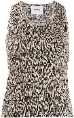 Nanushka Antia zebra print top