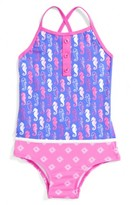Hatley Toddler Girl's Seahorse One-Piece Swimsuit