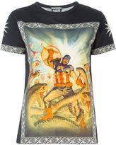Fausto Puglisi Captain America print T-shirt
