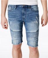 GUESS Men's Slim-Fit Sewanee Moto Jean Shorts