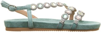 Alma en Pena Alma En Pena Green Jewel Sandals