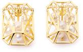 Melanie Georgacopoulos Diamond, white pearl & yellow gold earrings