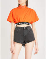 HERON PRESTON Jersone jersey cropped top