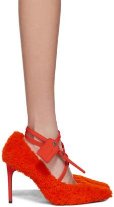 Off-White Orange Zip Tie Pumps