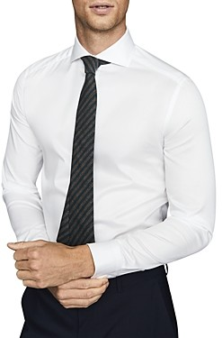 Reiss Storm Cutaway Collar Slim Fit Button-Down Shirt