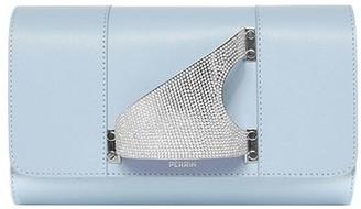 Perrin Paris L'Eiffel Leather Clutch with Swarovski Crystals