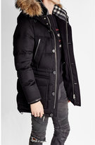 Burberry Cashmere Down Coat with Raccoon Fur