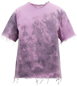Marques Almeida Marques'almeida - Tie Dye Denim T Shirt - Mens - Purple