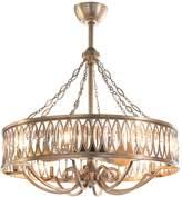 John-Richard Collection John Richard Marquise 8-Light Pendant with Fan