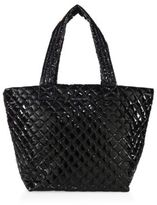 M Z Wallace Metro Medium Lacquered Quilted Nylon Tote