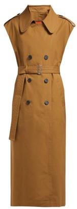 Colville - Sleeveless Cotton-canvas Trench Coat - Womens - Dark Brown