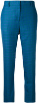 Paul Smith cropped trousers - women - Silk/Linen/Flax/Wool - 38