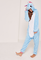 Missguided Blue Unicorn Onesie