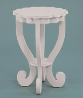 The Well Appointed House Scallop End Table-Available in Two Different Finishes