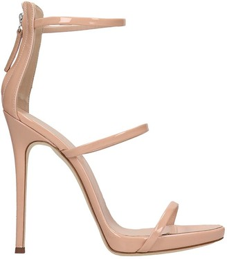 Giuseppe Zanotti Harmony Sandals In Powder Patent Leather
