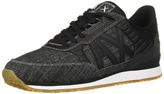 Armani Exchange A X Men's Denim Logo Sneaker Blue