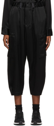 Y-3 Black CH3 Silk Cargo Lounge Pants