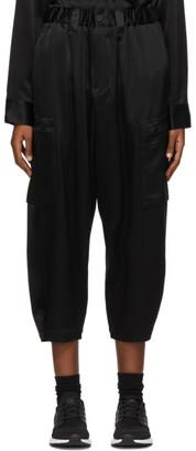 Y-3 Black CH3 Silk Cargo Lounge Pants