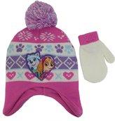 Nickelodeon Paw Patrol Girls Hat and Mittens Set - Size [4013]