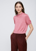 Rachel Comey Pink Cropped Knit Tee