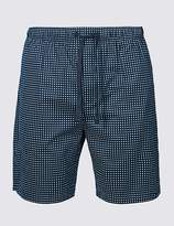Marks and Spencer Supima® Cotton Spotted Shorts
