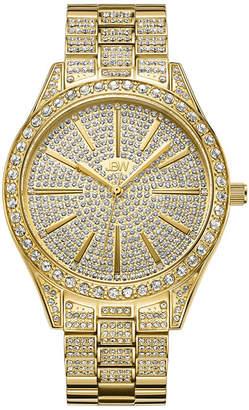 JBW Cristal 18K Gold Over Stainless Steel 1/8 CT. T.W. Genuine Diamond Bracelet Watch-J6346a