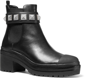 MICHAEL Michael Kors Glenn Studded Leather Booties