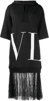 Valentino VLTN lace-trimmed sweatshirt dress