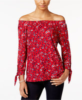 Style&Co. Style & Co. Petite Off-The-Shoulder Printed Top, Only at Macy's