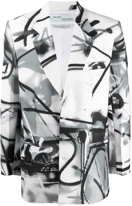 Off-White Futura spray print blazer