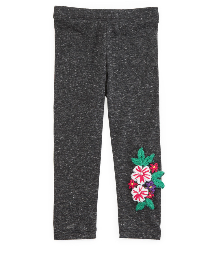 Baby Sara Floral Embroidered Leggings