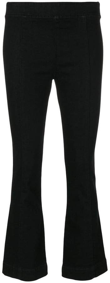 Helmut Lang cropped flared trousers
