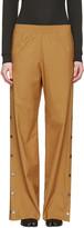 Maison Margiela Tan Side Snap Trousers