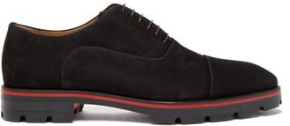 Christian Louboutin Hubertus Suede Oxford Shoes - Mens - Black