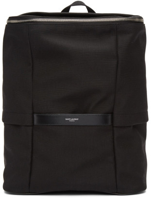 Saint Laurent Black Canvas Sid Backpack