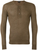 Tom Ford superfine long sleeved henley - men - Silk/Cashmere - 48