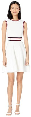Ted Baker Apryll Knitted Sleeveless Skater Dress (Ivory) Women's Dress