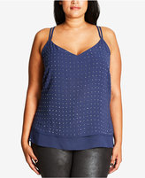 City Chic Trendy Plus Size Embellished Top
