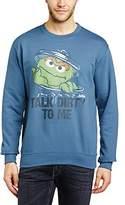 Sesame Street Men's 235.Talk Dirty to Me Crew Neck Long Sleeve Sweatshirt
