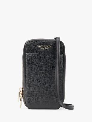 Kate Spade Zeezee North South Leather Phone Cross Body Bag, Black