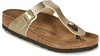 Birkenstock GIZEH women's Flip flops / Sandals (Shoes) in Gold