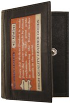 AG Jeans A&G Wallwts Men's Genuine Leather Slim Credit Card Id Wallet with a Snap Closure