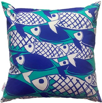 Chloe Croft London Limited Crosshatch Fish Outdoor Weatherproof Cushion