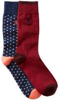 Original Penguin Gabriel & Providence Crew Socks - Pack of 2