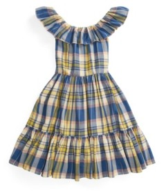 Polo Ralph Lauren Big Girls Plaid Madras Dress