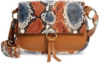 Ted Baker Hettie Python Embossed Leather Crossbody Bag