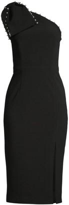 Rebecca Vallance Pipi Embellished Trim Midi Sheath Dress