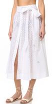 Lisa Marie Fernandez Eyelet Beach Skirt
