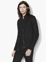 John Varvatos Zipped Knit Jacket